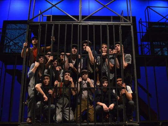 """""""Newsies,"""" the stage musical version of the 1992 Disney film, opens tonight at Centenary Stage Co. in Hackettstown. The show, which features music by Alan Menken (composer of """"The Little Mermaid"""" and """"Beauty and the Beast""""), runs tonight through December 17. The story focuses on a scrappy group of newspaper delivery boys who go on strike to protest their treatment at the hands of publishers."""