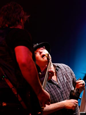 Blues Traveler performs at the Lancaster Festival Saturday August 1, 2015.