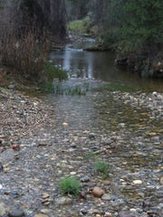 Oregon Gulch Creek is part of an area that the city of Redding proposes to turn it into public open space.