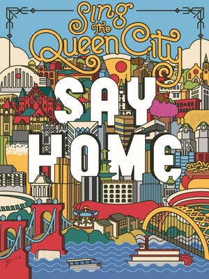 "James Billiter's illustration of ""Sing the Queen City, Say Home,"" a part of the CincyInk project."