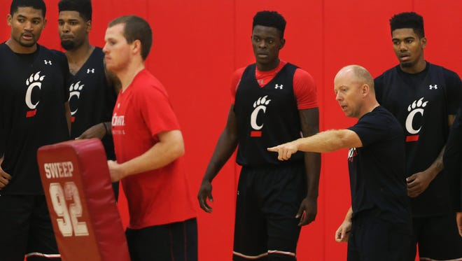 UC head coach Mick Cronin at practice Wednesday afternoon.