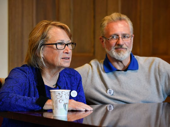 Patty and Jerry Wetterling spoke Tuesday, Oct. 11,
