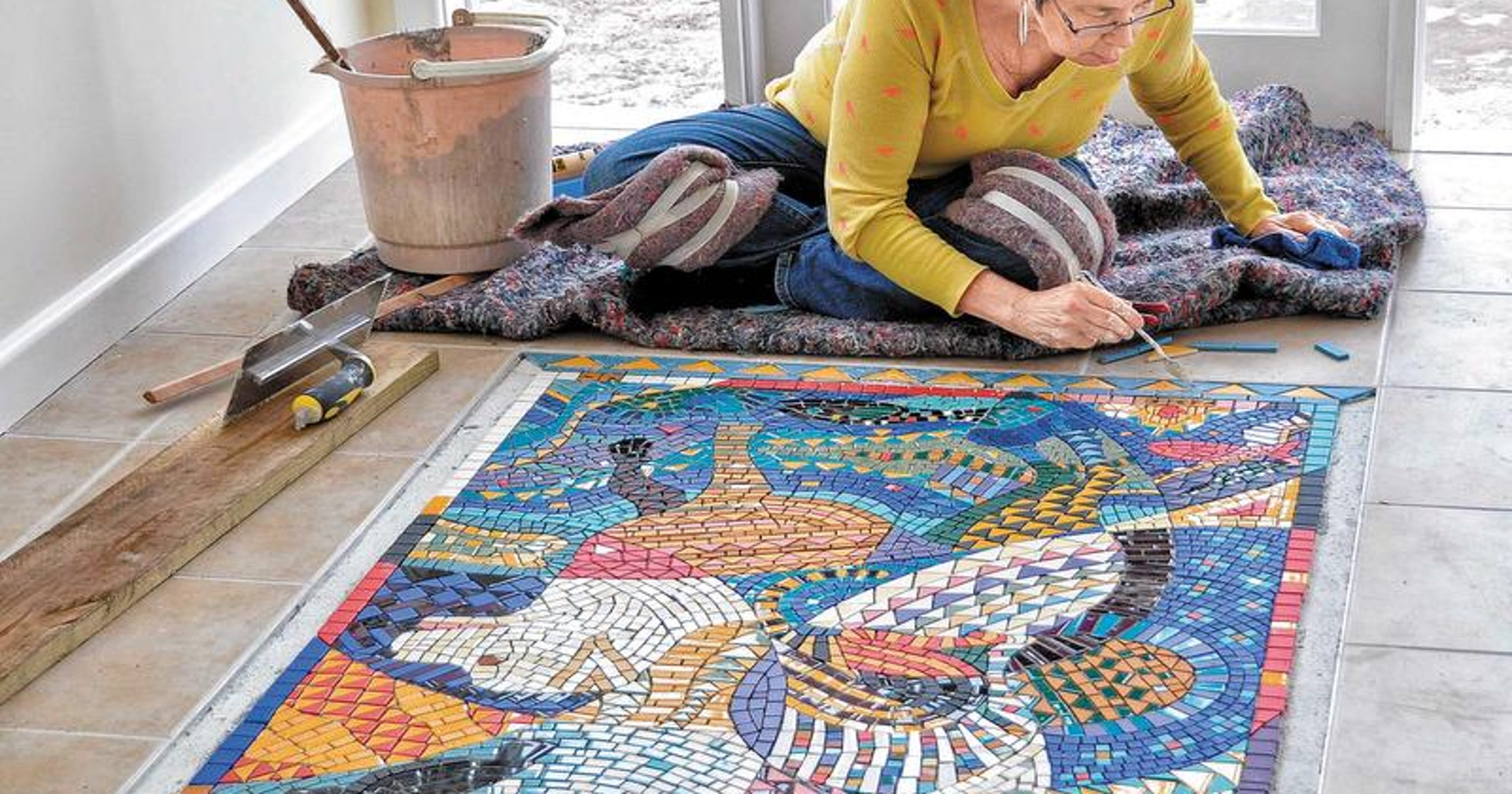 Mosaic Work A Perfect Fit For Rochester Artist
