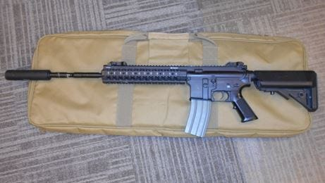 Middletown Police Department on Monday released this photo of an air-gun seized from the vehicle of two boys charged in a drive-by shooting they say injured another boy.