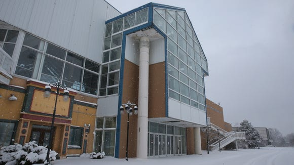 Snow covers the former Medley Centre mall in Irondequoit in January 2016.
