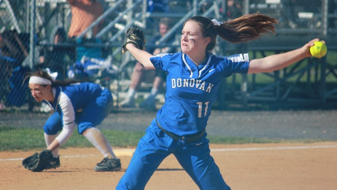 Lindsay Nelson got the win in the circle and hit a two-run home run in Donovan Catholic's 6-5 win over Lacey.