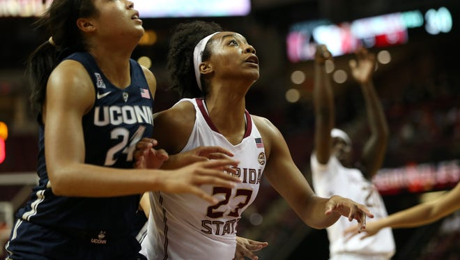 Senior forward Ivey Slaughter is one of four Seminoles averaging at least 10 points per game.