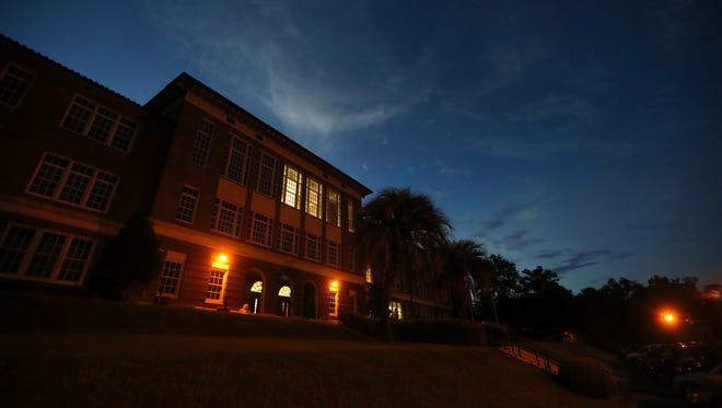 Leon High School at sundown