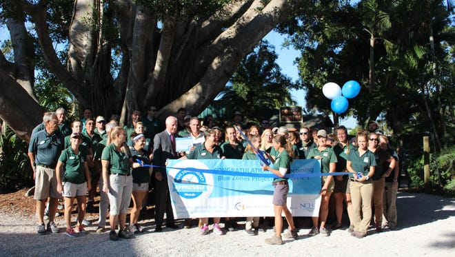Naples Zoo celebrates joining Blue Zones Project initiative in Collier County.