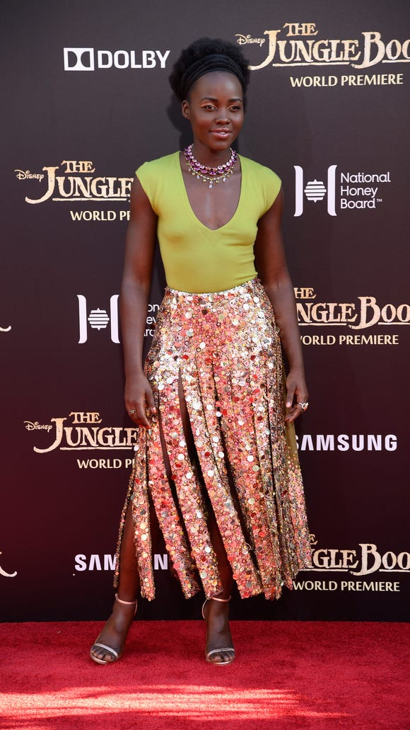 Lupita Nyong'o attends the premiere of Disney's 'The