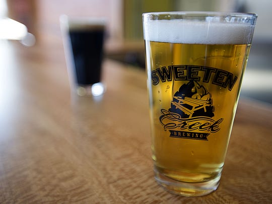"Sweeten Creek Brewing hopes to debut its ""Sinkhole Sellout"" IPA on Friday, Aug. 16."