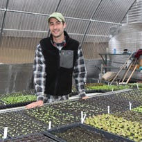 Max Apton installs and maintains vegetable gardens for about 20 clients scattered across the Hudson Valley.