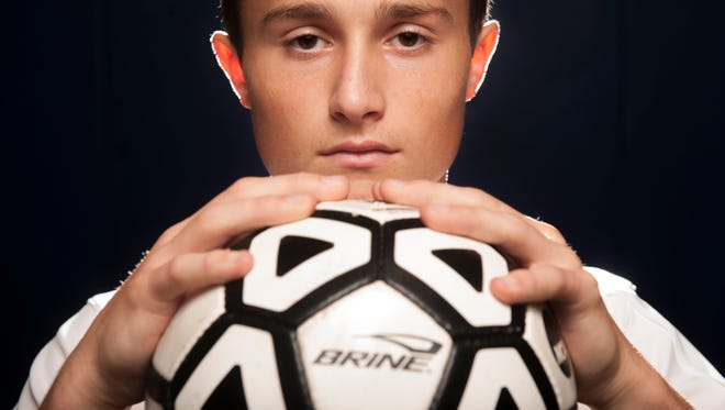 Washington Township's Lou Vilotti, the Courier-Post's 2014 boys soccer player of the year. 12.09.14
