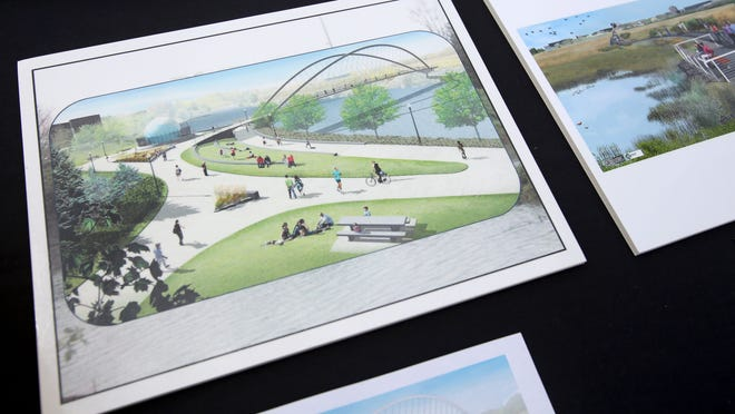 A rendering of the new Peter Courtney Minto Island Bridge. Photo taken on May 21, 2015, in Salem, Ore.