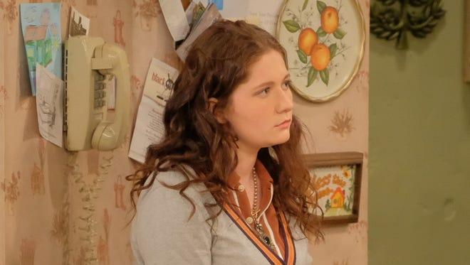Actress Emma Kenney in a scene from 'Roseanne.'