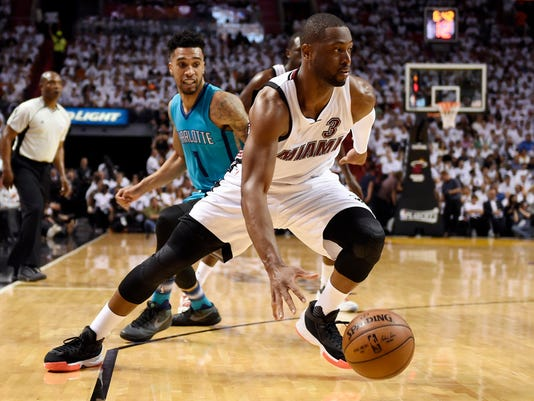 NBA: Playoffs-Charlotte Hornets at Miami Heat