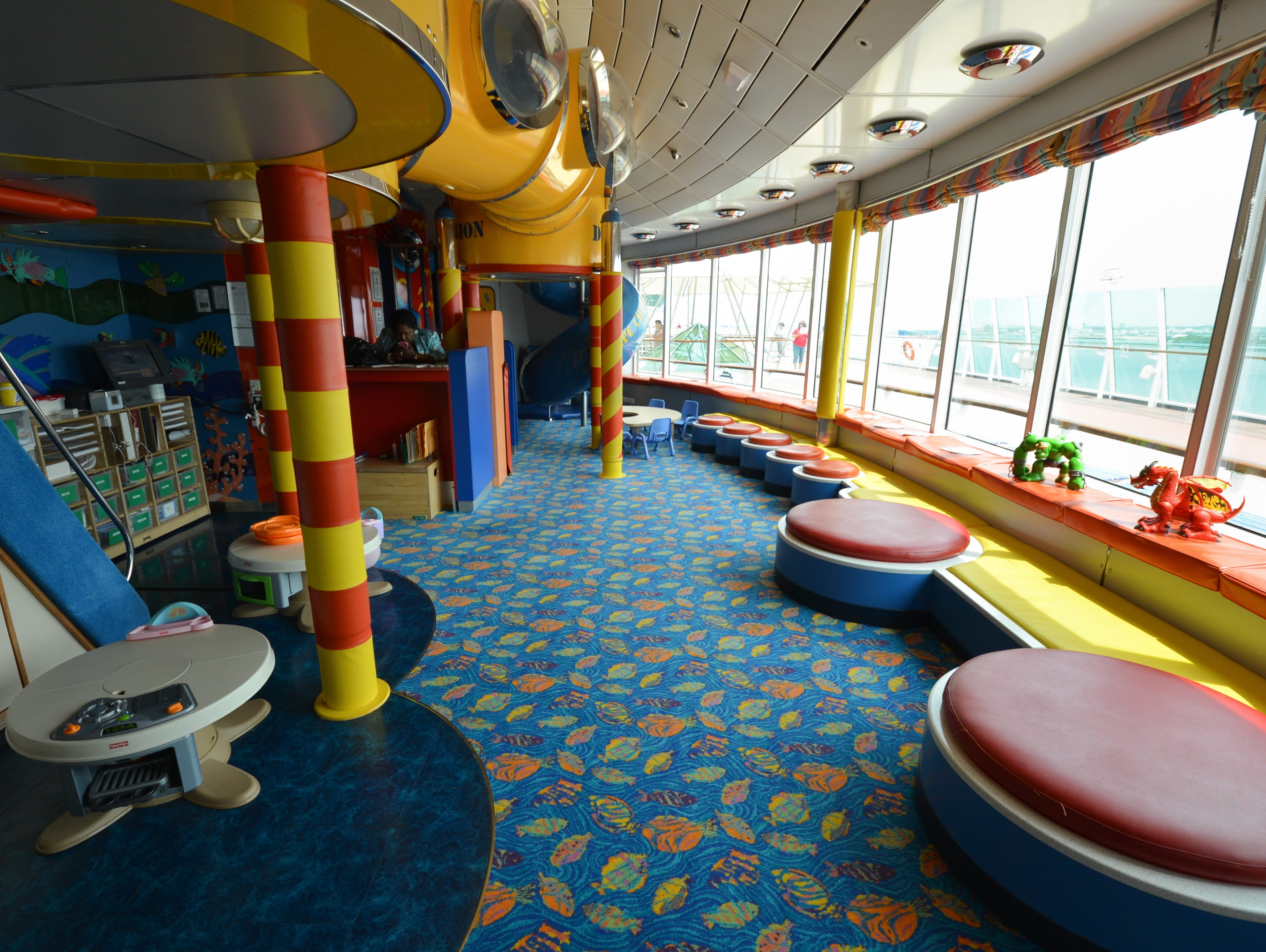 With a capacity of up to 80 children, Adventure Ocean includes areas for climbing geared to smaller children and craft tables.