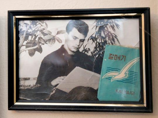 A photo of Jim Layton taken as a POW in North Korea
