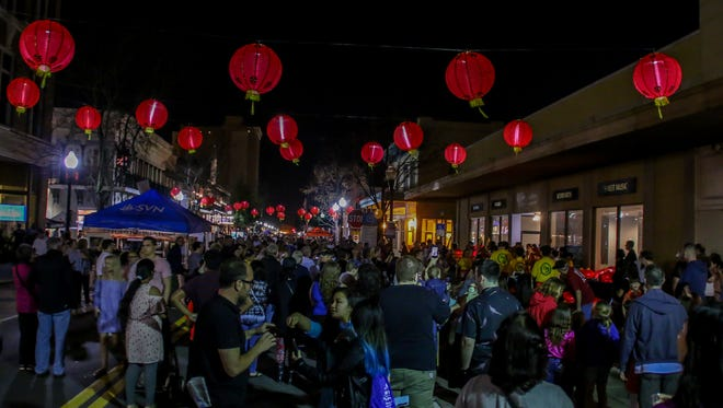 A Gallery Night image from February 2018 that featured decorations and demonstrations celebrating the Chinese New Year.