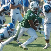 Camden Catholic senior Jamal Parker rushed for 82 yards and a touchdown in the second half.