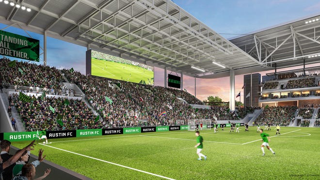 The south end of the Austin FC stadium will be home to approximately 3,400 of the most fervent Austin FC supporters in the supporter section. Tickets in the section will cost $475 per person for 17 MLS home matches and any U.S. Open Cup matches through the quarterfinals, according to social media postings Monday.