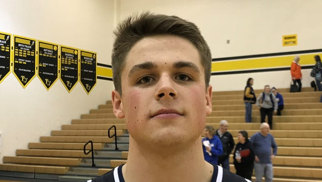 Granville senior Jack Lonzo had 18 points, including four 3-pointers, in Licking County's 103-71 victory against Muskingum Valley on Sunday at Tri-Valley.
