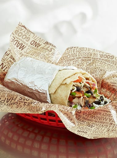 Chipotle: Opt for a trio of soft or crunchy tacos or a burrito in a monster flour tortilla. Next, fill them up with chicken ($6.50), barbacoa ($7.50), steak ($7.50) or meat-free options ($6.50) such as sofritas or veggies. Add rice, beans, sour cream, veggies and top it all off with a mild fresh salsa, medium roasted chili-corn salsa or hot tomatillo red-chili salsa.  Details: 1038 S. Mill Ave., Tempe. 480-273-8800. Other locations at chipotle.com.