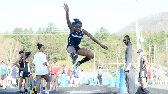 Roberson rising senior Michelle Cobb won the NCHSAA 4-A championship in the triple jump back in May.