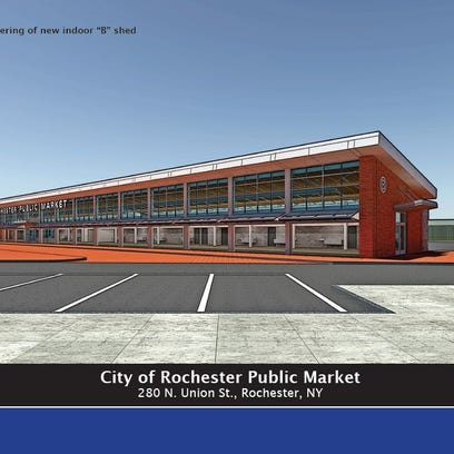 An artist's rendering shows one of the new sheds at
