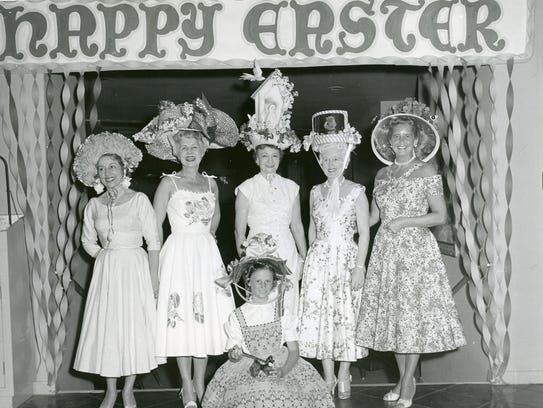 Easter hat contest at the El Mirador Hotel.