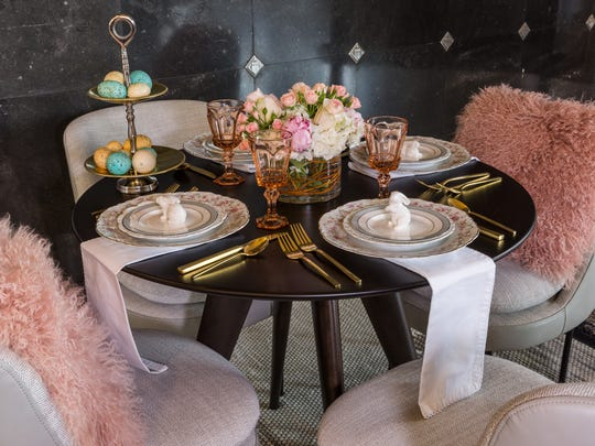 This tablescape has old-world charm with modern touches.