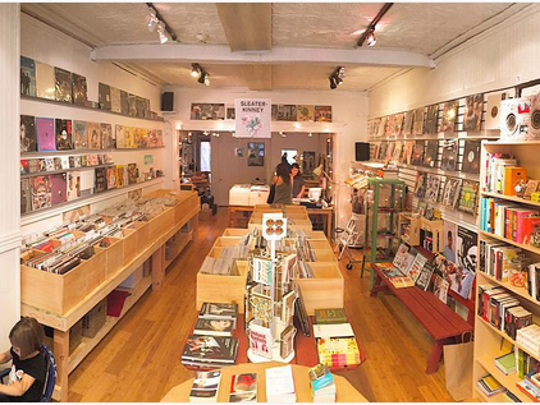 Interior view of Kiam Records Shop in Nyack.