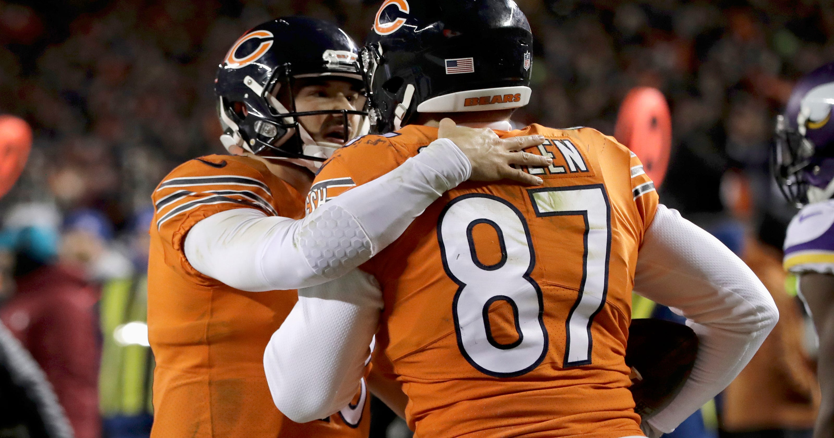 46f51902e Bears QB Mitchell Trubisky day to day with shoulder injury