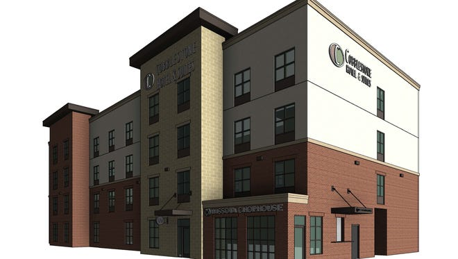 Rendering of the coming Cobblestone Hotel & Suites in Fox Crossing.