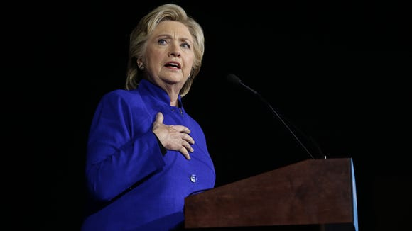 Democratic presidential nominee Hillary Clinton.