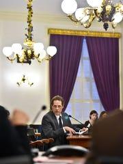 Ken Schatz, commissioner of the DCF, testifies Wednesday.