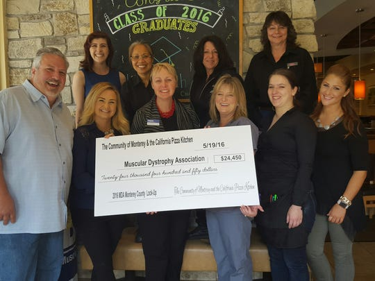 The Monterey Lock-up for MDA raised funds by 'locking up' local business and community leaders for donations.