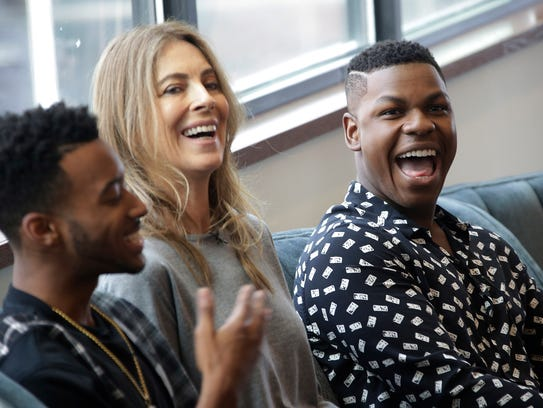 Cast member Algee Smith, left, who played Larry, makes