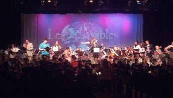 In rehearsal for the June production of Les Misrables: In Concert.