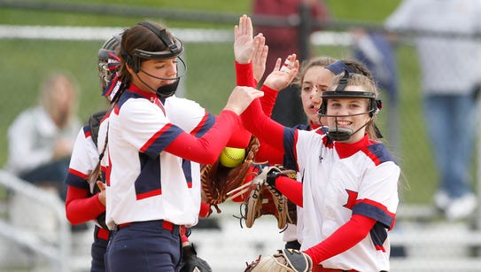 Harrison tops Eastchester 8 - 5 in a varsity softball