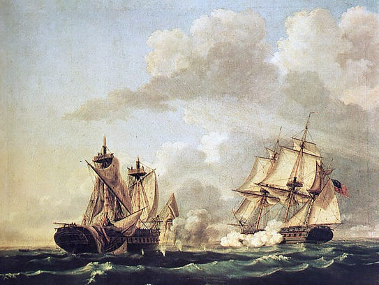 The last naval battle of the American Revolution where
