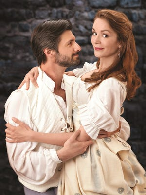 """Mitchell A. Koory and Anne Marie Damman in Shakespeare Royal Oak's production of """"The Taming of the Shrew."""""""