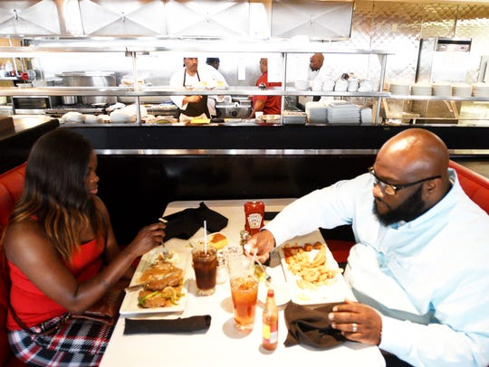 Inside the Proud Mary 360 Grill in the Red River District