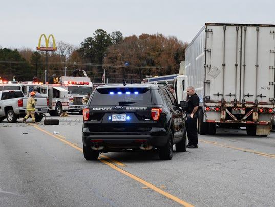 Trucks collide on 28 bypass