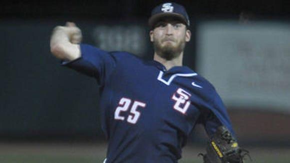 Roberson alum Alex Ledford is a senior pitcher for the Samford baseball team.