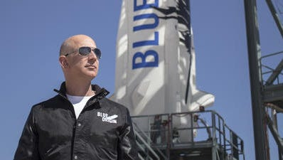 Jeff Bezos is the founder of Blue Origin and chief executive officer of Amazon.com.