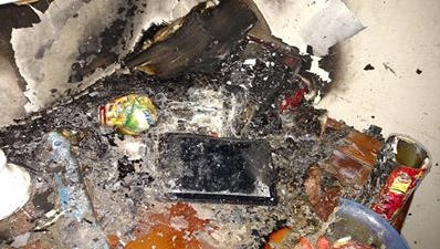 An apartment in Vevay appears to have been caused by a tablet, according to the fire department.