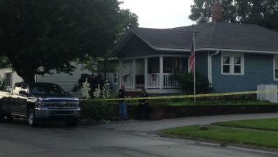 A Lebanon home where a man was found dead and a woman was found injured