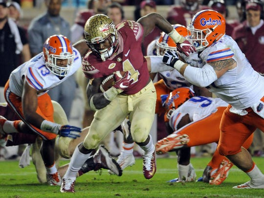 Florida State running back Dalvin Cook has run for 4,319 yards and 45 touchdowns in three seasons with the Seminoles.