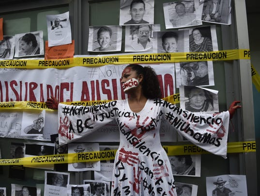 MEXICO-CRIME-JOURNALIST-VALDEZ-PROTEST